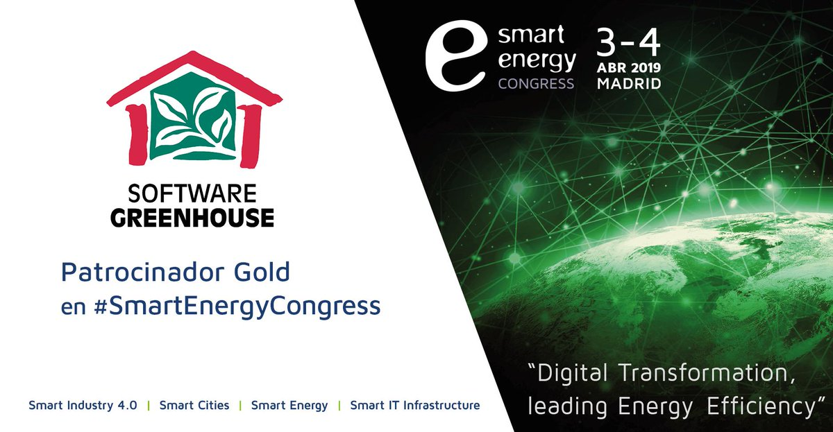 SmartEnergyCongress enerTIC 2019 Greenhouse Gold Sponsor